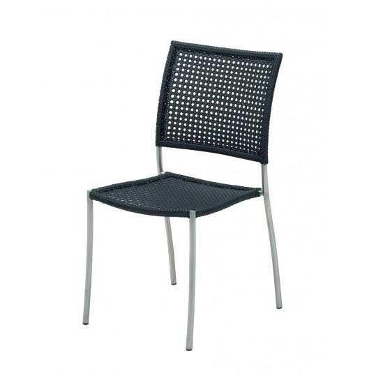 Chorus Woven Stacking Chair - Ebony