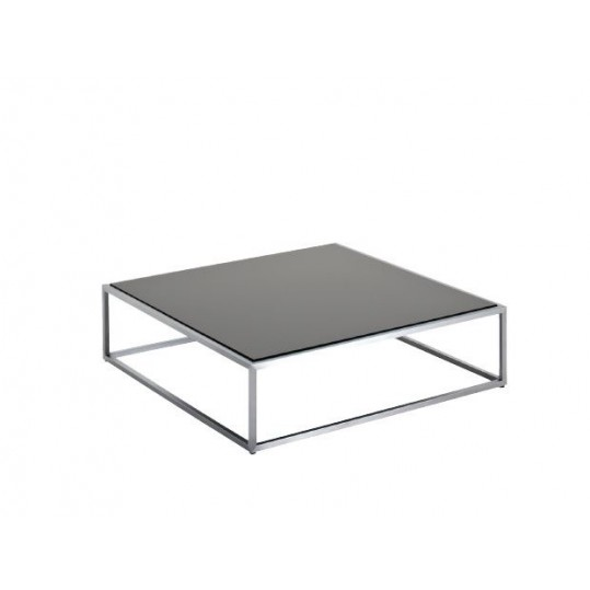 "Cloud 40"" x 40"" Coffee Table - Black HPL Top"