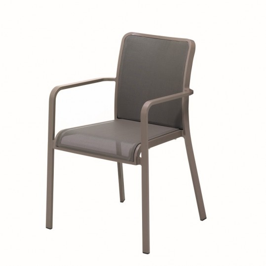 Riva Stacking Chair w/Arms (Russet/Taupe)