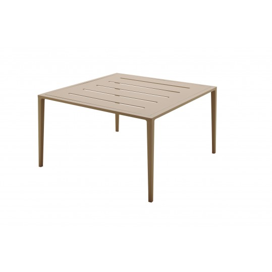 Vista Square Coffee Table w/Slotted Aluminum Top - Sand