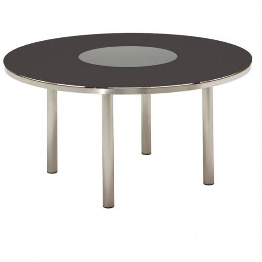 KORE 58.5 Round Table - Glass Top (Slate) w/Lazy Susan