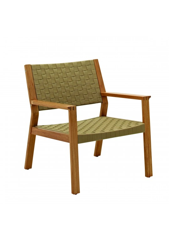 Maze Lounge Chair Strap - Malt/Buffed Teak