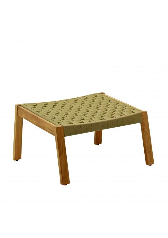 Maze Footstool Strap - Malt/Buffed Teak
