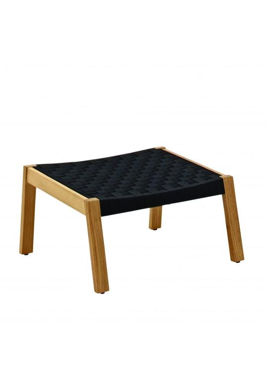 Maze Footstool Strap - Noir/Buffed Teak