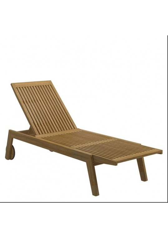Solana Teak Lounger with Wheels