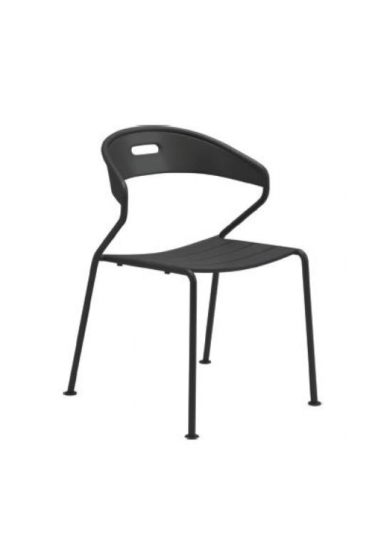 Curve Dining Chair Aluminium Slats - Meteor (Last One!)
