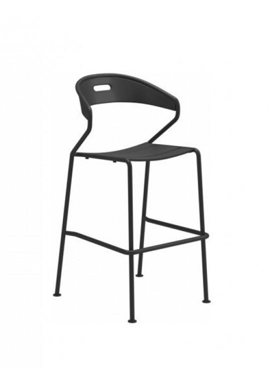 Curve Bar Chair Aluminium Slats - Meteor