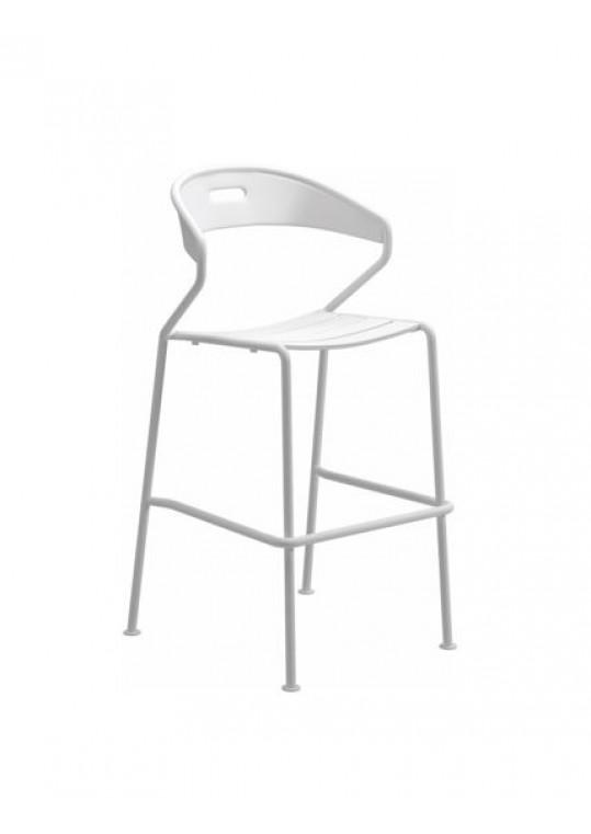 Curve Bar Chair Aluminium Slats - White