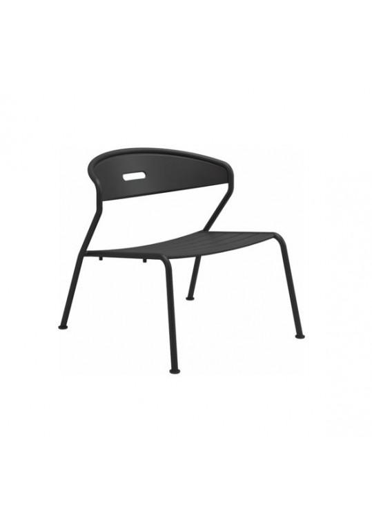 Curve Lounge Chair Aluminium Slats - Meteor