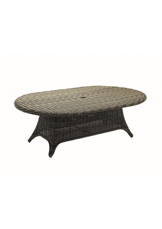 """Havana 54"""" x 86.5"""" Woven Dining Table - Willow w/ Woven Top"""