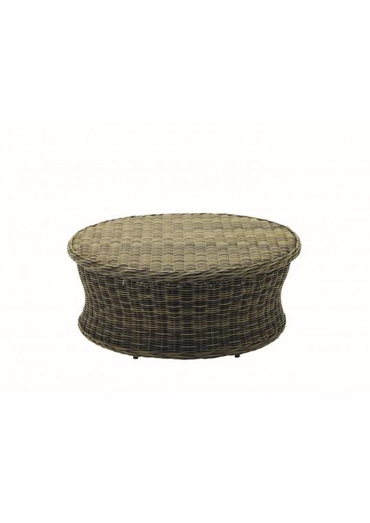 Havana Woven Round Conversation Table - Willow