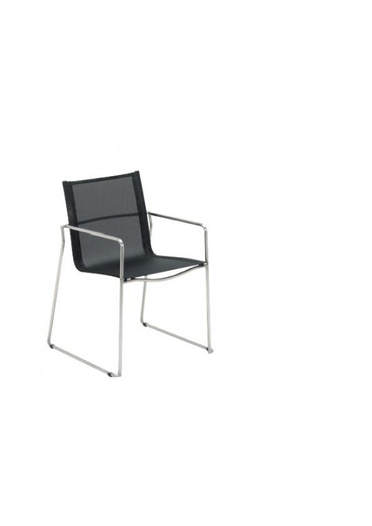Asta Stacking Chair W/Arms-- Charcoal