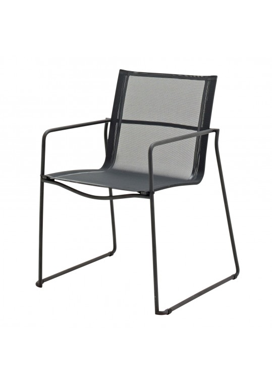 Asta Dining Chair W/Arms - Meteor/Grey