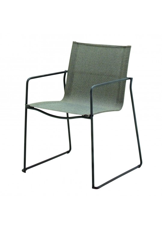 Asta Dining Chair W/Arms - Meteor/Granite