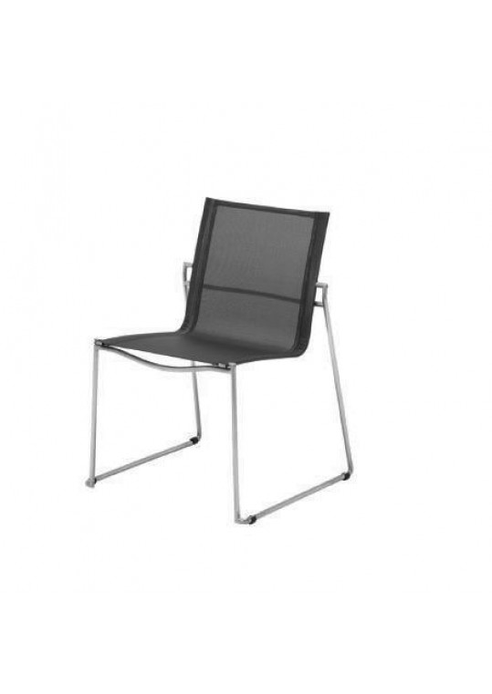 Asta Stacking Chair - Charcoal