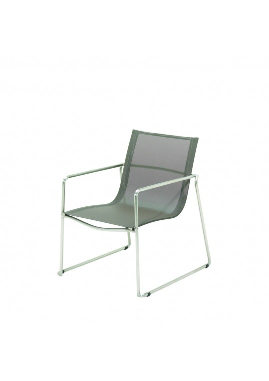 Asta Lounge Chair - Taupe - Electro Polished