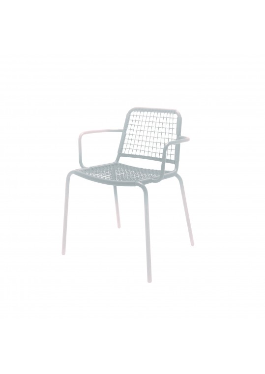 Nomad Woven Stacking Chair w/ Arms - White