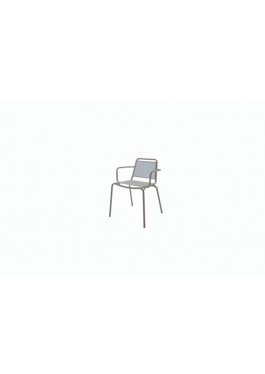 Nomad Sling Stacking Chair w/Arms - Taupe