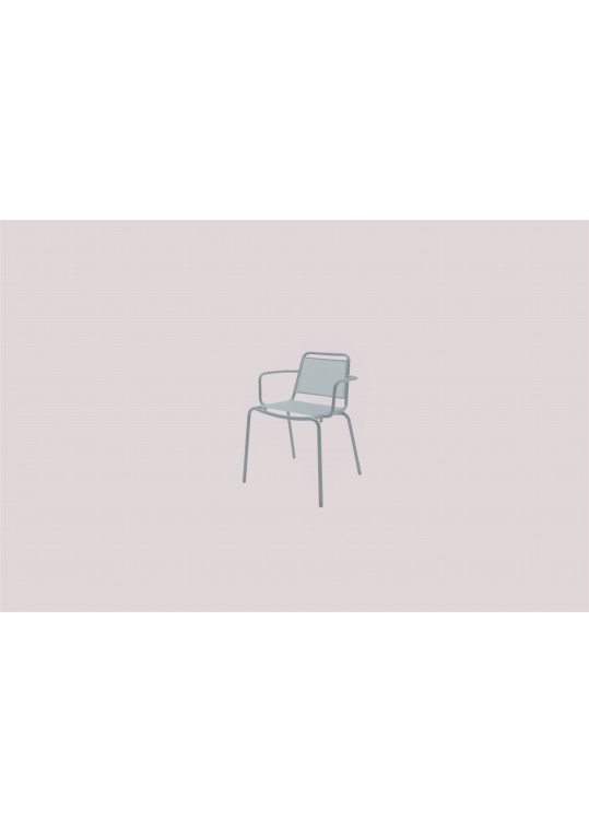 Nomad Sling Stacking Chair w/Arms - White