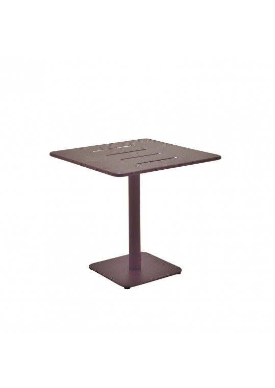"""Nomad 31.5"""" Square Table w/ Slotted Alu Top - Taupe (w/ weight plate) (Last One!)"""