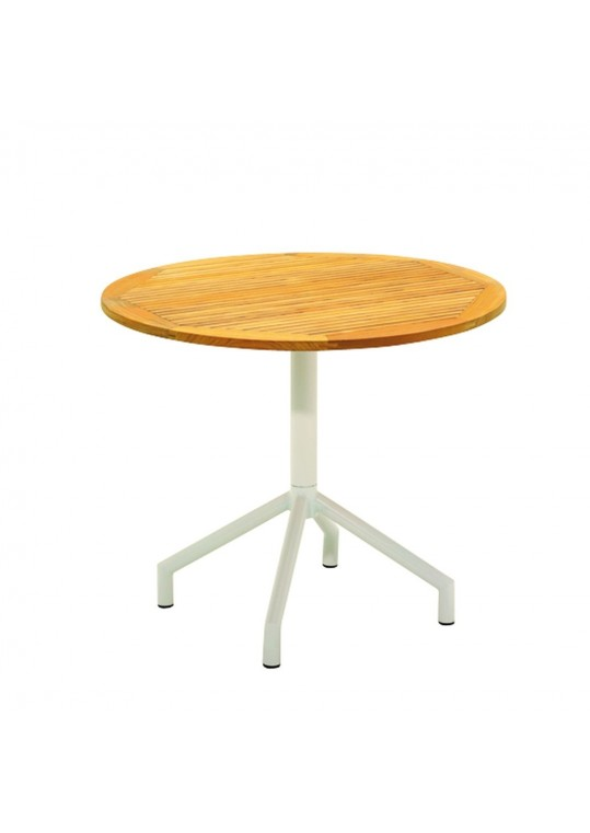 "Luna 36"" Round Pedestal Table - White"