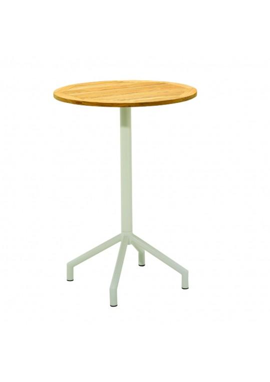 "Luna 31.5"" Round Bar Table - White"