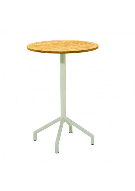 "Luna 31.5"" Round Bar Table - White"