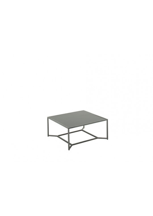 Bloc High Coffee Table - Black Top - Cinder