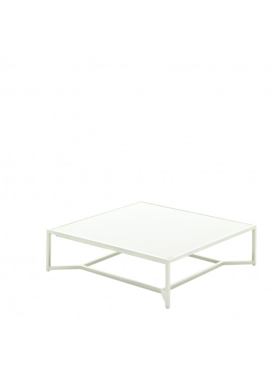 Bloc Low Coffee Table - White Top - Frost