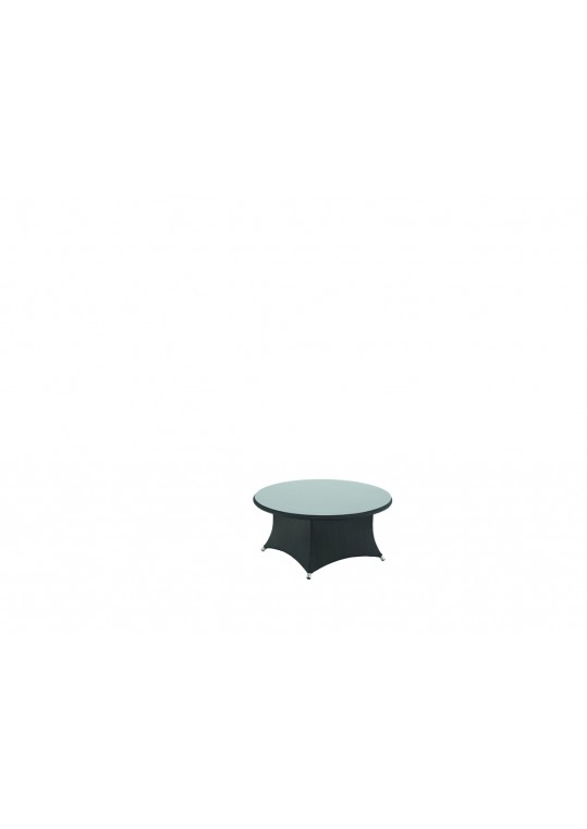 Casa Round Conversation Table w/ Glass Top