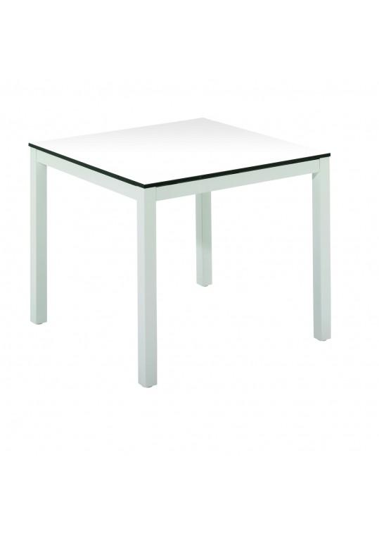 """Riva 34"""" Square Table - White HPL Top - White Base"""