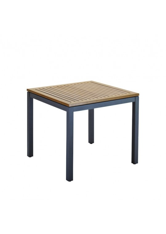 "Azore 34"" Square Table - Synthetic Wood Top - Slate"