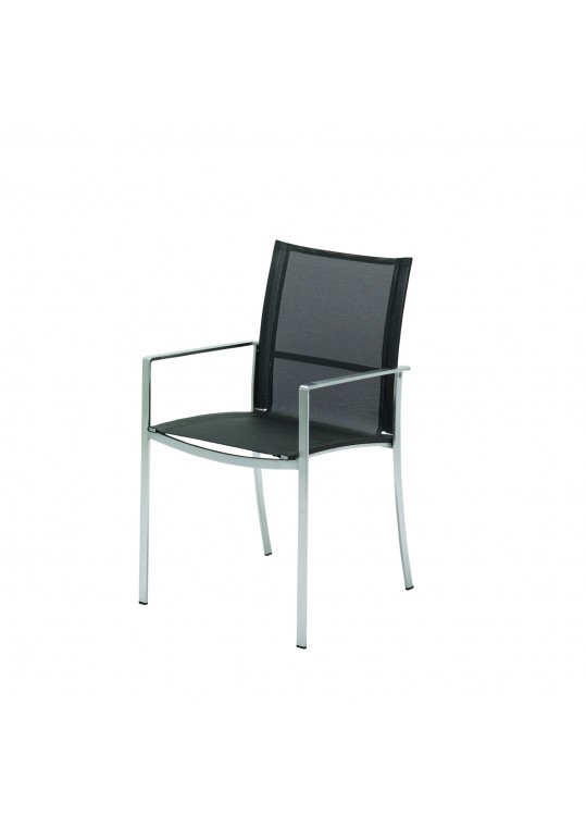 Fusion Stacking Chair w/Arms (Mercury) - Electropolished