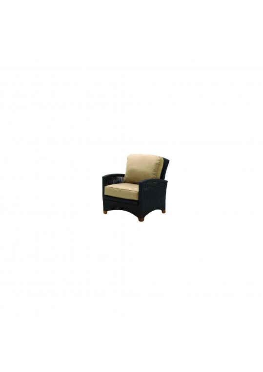 Plantation Sectional Reclining Armchair - Woven Arms (Mahog)