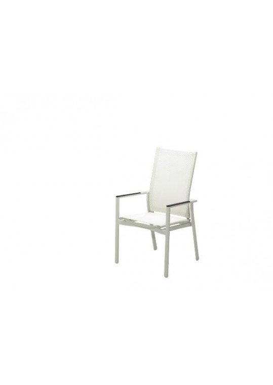 Azore Stacking Reclining Chair- (Frost/White)
