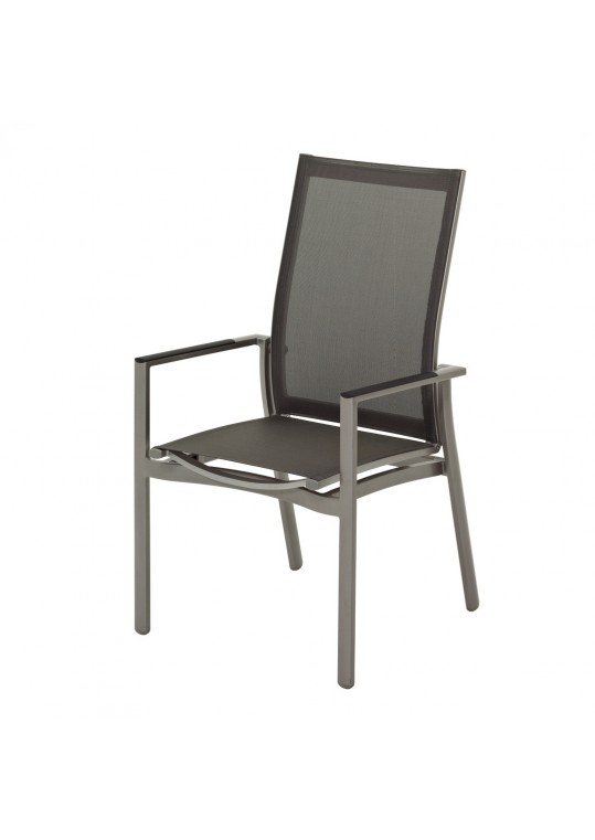 Azore Stacking Reclining Chair - Tungsten/Mercury