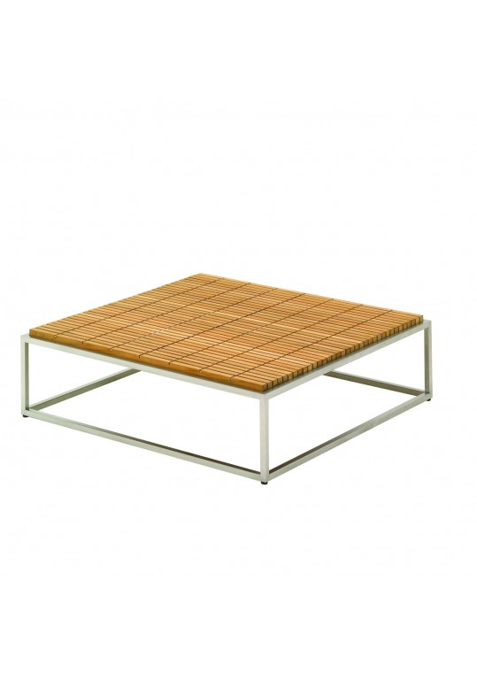 "Cloud 40"" x 40"" Coffee Table - Teak Top"