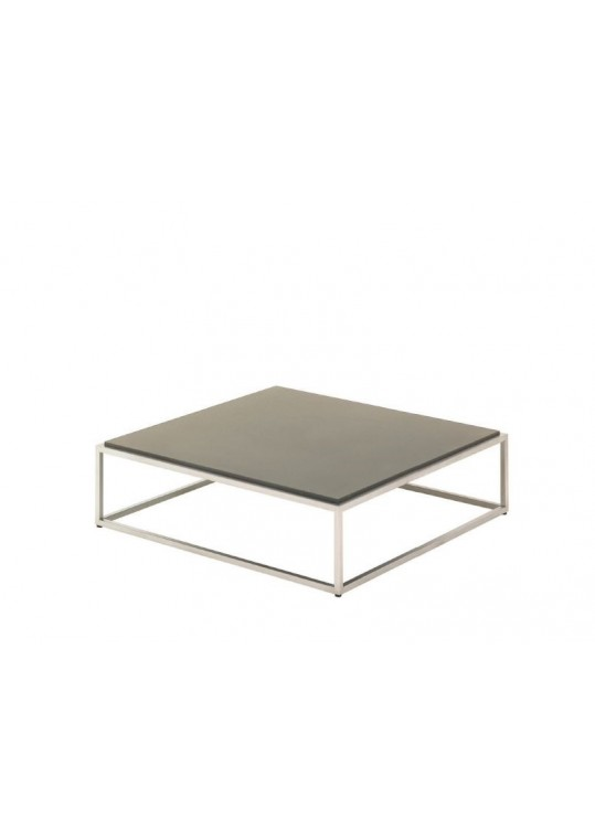 "Cloud 40"" x 40"" Coffee Table - Taupe Quartz Top"
