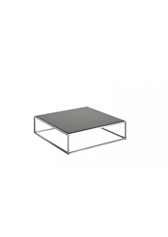 "Cloud 40"" x 40"" Coffee Table - Black HPL Top"
