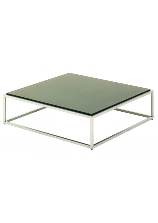 "Cloud 40"" x 40"" Coffee Table - Taupe HPL Top"