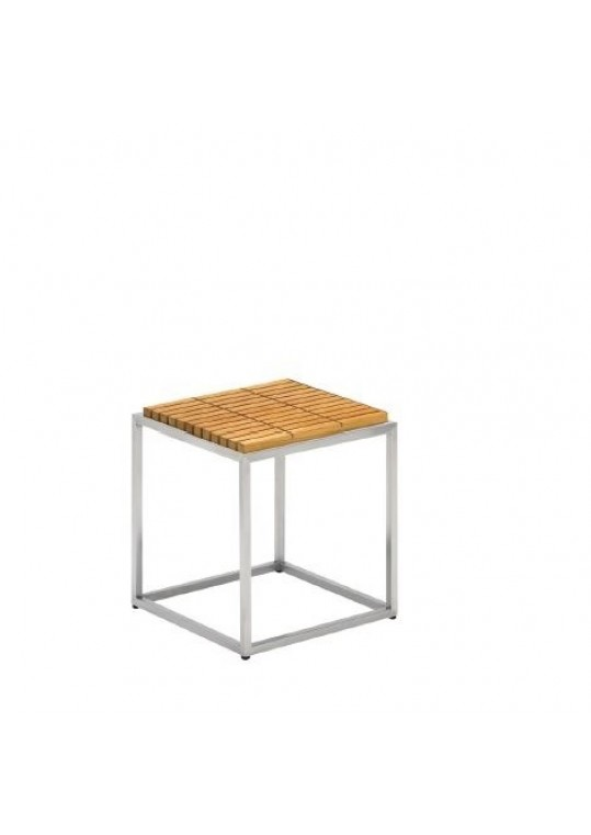 Cloud Side Table - Teak Top