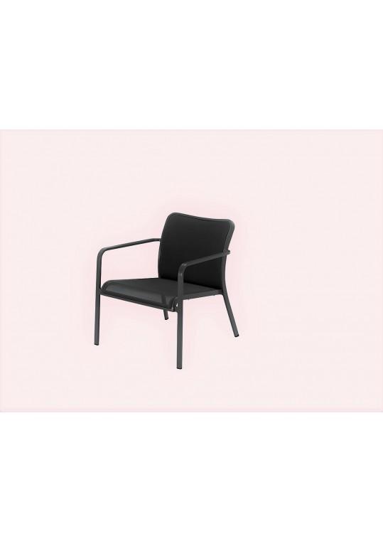 Riva Deep Seating Armchair (Gunmetal/Charcoal)
