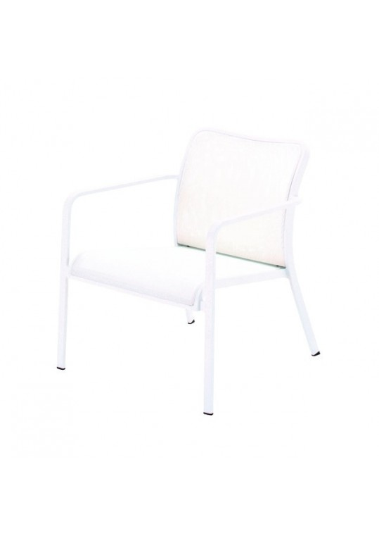 Riva Deep Seating Armchair (Crystal White/White)