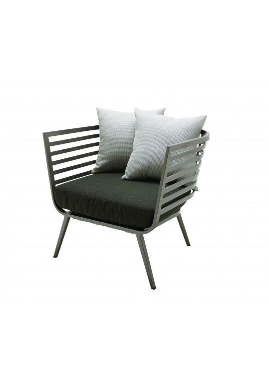 Vista Lounge Chair - Tungsten