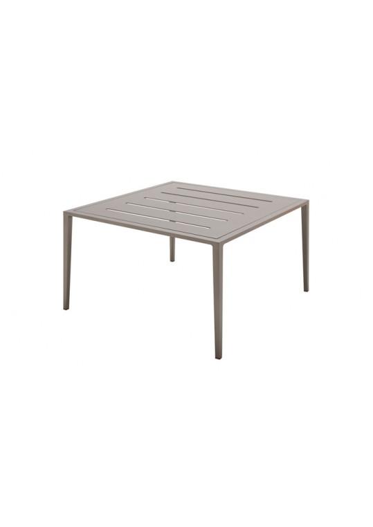 Vista Square Coffee Table w/Slotted Aluminum Top - Tungsten