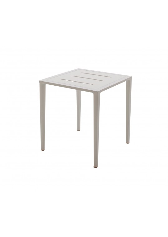 Vista Side Table w/Slotted Aluminum Top - Frost