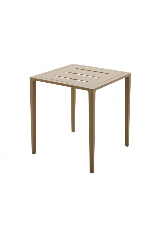 Vista Side Table w/Slotted Aluminum Top - Sand