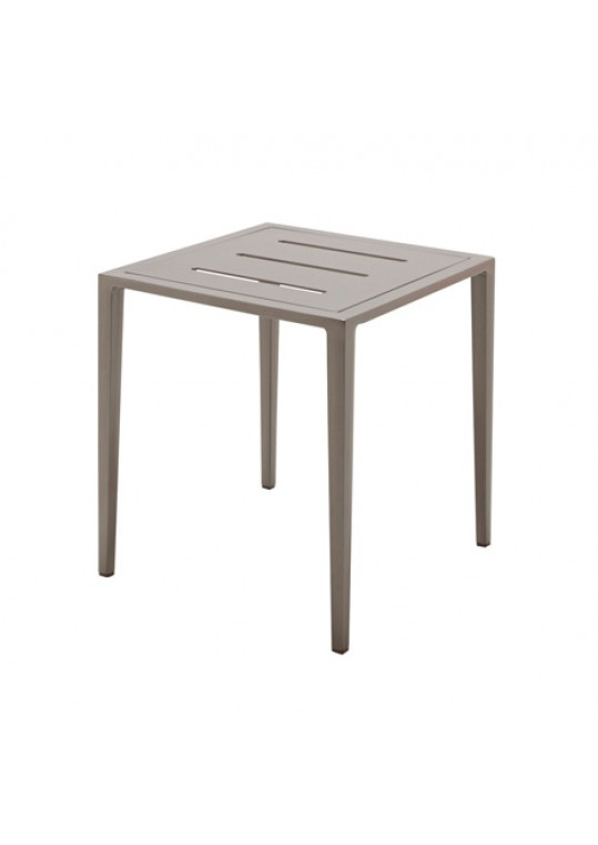Vista Side Table w/Slotted Aluminum Top - Tungsten