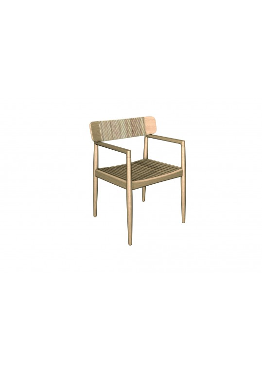 Archi Dining Chair with Arms - Dune