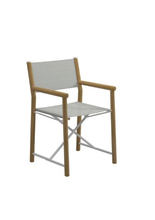 Voyager Director's Chair - White/Seagull